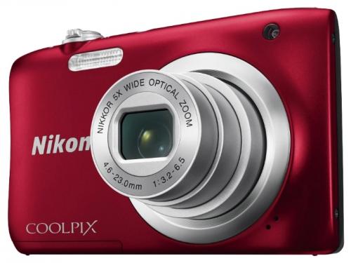 Цифровой фотоаппарат Nikon Coolpix A100, красный, вид 2