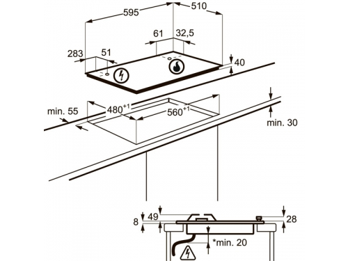 Варочная поверхность Electrolux GME363XB, вид 2