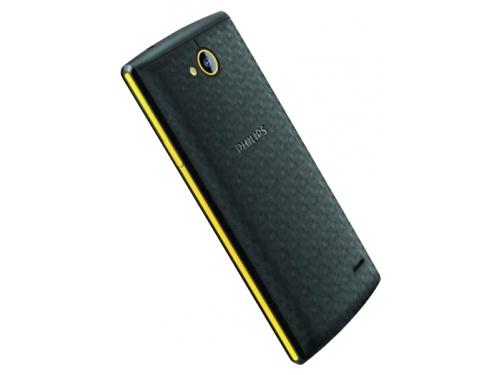 Смартфон Philips Xenium S307 4Gb, черный/желтый, вид 2