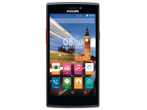 Смартфон Philips S337 8Gb 2Sim, черный, вид 1