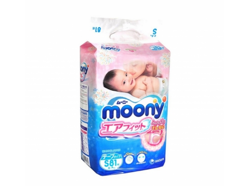 Подгузник Moony 4-8 кг (81 шт.) S, вид 1