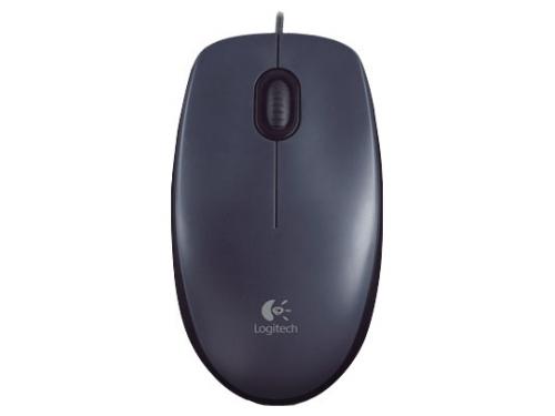 Мышка Logitech Mouse M100 Black USB, вид 3