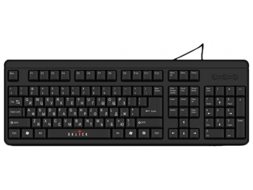 Клавиатура Oklick 140 M Standard Keyboard Black USB, вид 1