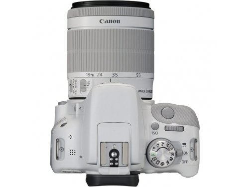 Цифровой фотоаппарат Canon EOS 100D Kit (EF-S 18-55mm IS STM), белый, вид 3