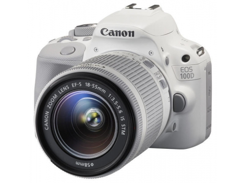 Цифровой фотоаппарат Canon EOS 100D Kit (EF-S 18-55mm IS STM), белый, вид 1