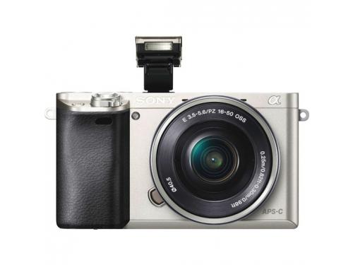 Цифровой фотоаппарат Sony Alpha A6000 Kit (SEL-1650), серебристый, вид 1