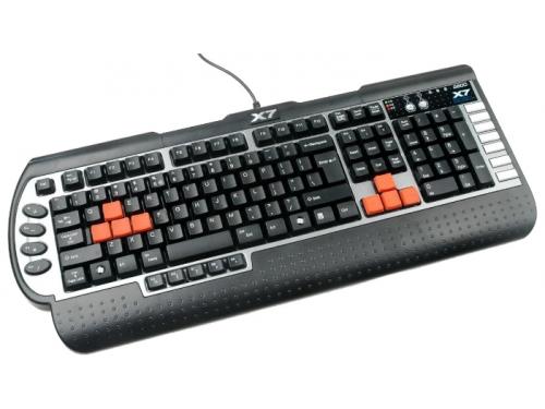 Клавиатура A4Tech X7-G800 USB черная, вид 2