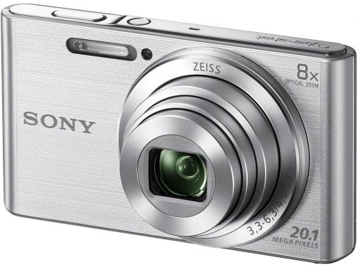 Цифровой фотоаппарат Sony Cyber-shot DSC-W830, серебристый, вид 2