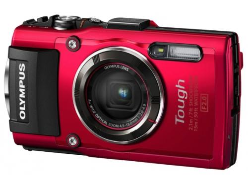 Цифровой фотоаппарат Olympus Tough TG-4, красный, вид 1