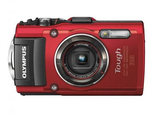 Цифровой фотоаппарат Olympus Tough TG-4, красный, вид 2