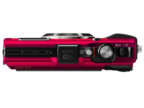 Цифровой фотоаппарат Olympus Tough TG-4, красный, вид 4