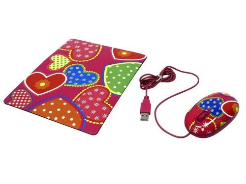 Мышка CBR Candy USB + коврик, вид 3