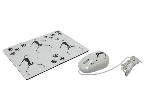 Комплект Crazy Cat USB + коврик, вид 4