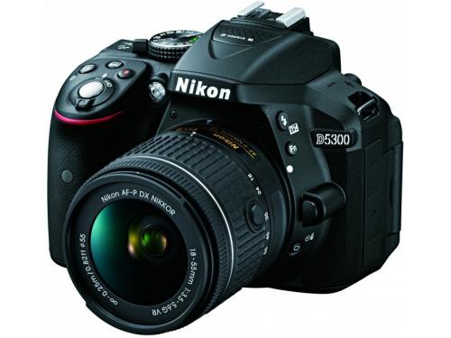 Цифровой фотоаппарат Nikon D5300 KIT AF-P DX 18-55mm VR, чёрный, вид 1