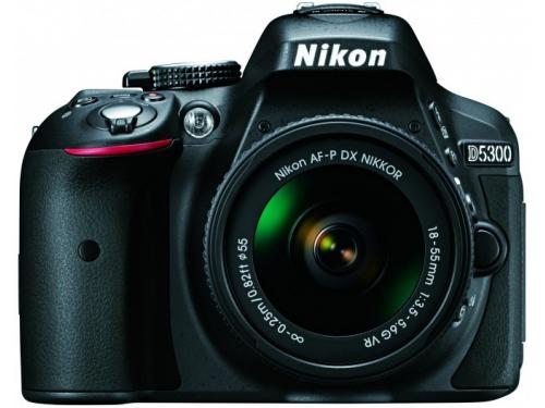 Цифровой фотоаппарат Nikon D5300 KIT AF-P DX 18-55mm VR, чёрный, вид 3