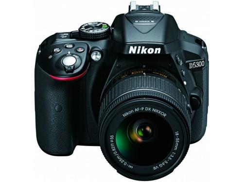 Цифровой фотоаппарат Nikon D5300 KIT AF-P DX 18-55mm VR, чёрный, вид 2