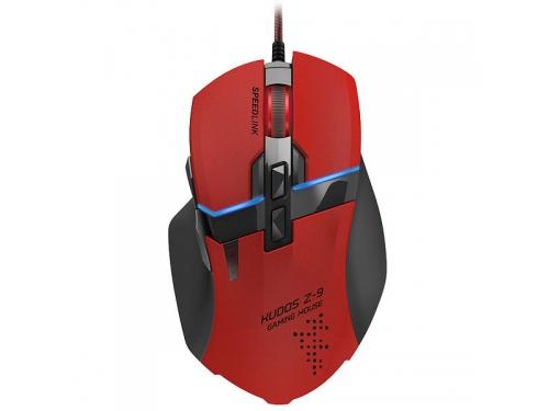 Мышка Speedlink KUDOS Z-9 RED (USB), красная, вид 1