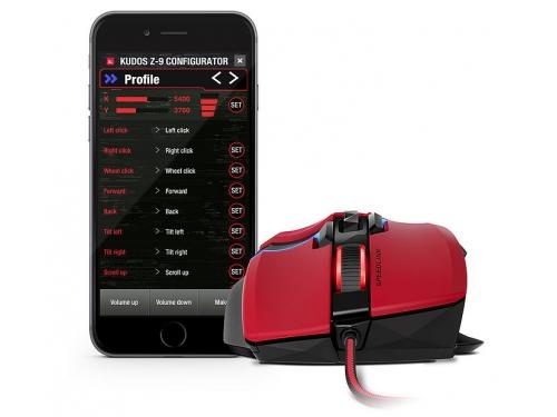 Мышка Speedlink KUDOS Z-9 RED (USB), красная, вид 3