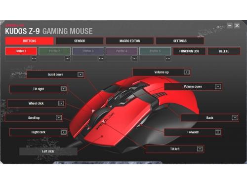 Мышка Speedlink KUDOS Z-9 RED (USB), красная, вид 4