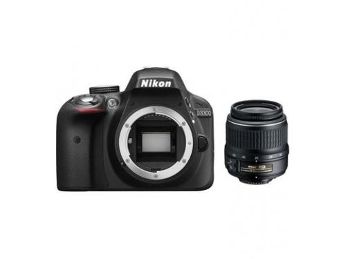 Цифровой фотоаппарат Nikon D3300 KIT (AF-P DX 18-55mm VR), черный, вид 1