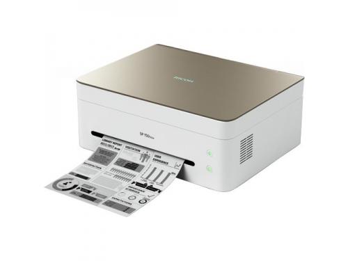 Принтер лазерный ч/б Ricoh SP 150w, бежевый, вид 1