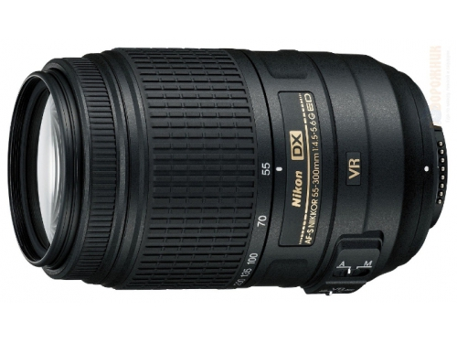 Объектив для фото Nikon 55-300 mm f/4.5-5.6G ED DX VR AF-S Nikkor, вид 2
