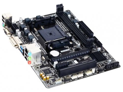 Материнская плата GIGABYTE GA-F2A68HM-DS2 (mATX, Socket FM2/2+, A68H, 2xDDR3, SATA-III, D-Sub DVI-D, USB3.0, PS/2), вид 2
