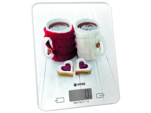 Кухонные весы Vitek VT-2424 W Белые, вид 1