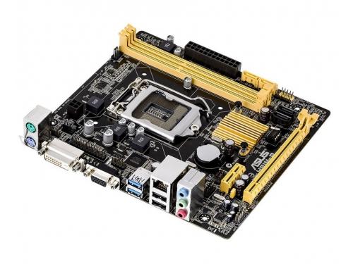 Материнская плата ASUS H81M-P (mATX, LGA1150, Intel H81, 2x DDR3), вид 2