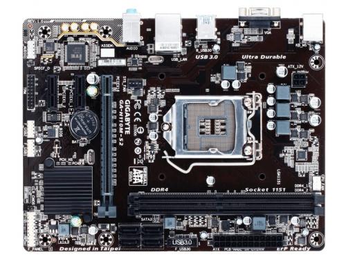 Материнская плата GIGABYTE GA-H110M-S2 DDR4 (rev. 1.0), вид 2