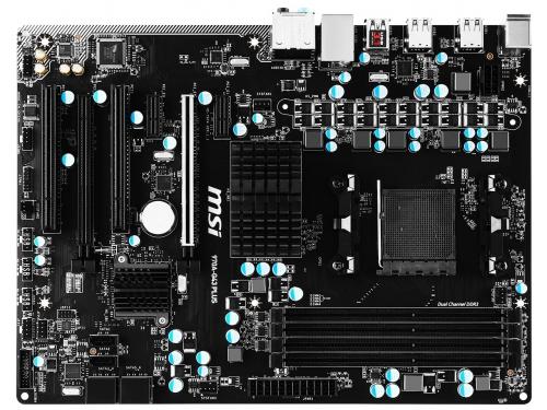Материнская плата MSI 970A-G43 PLUS, USB 3.1, вид 4