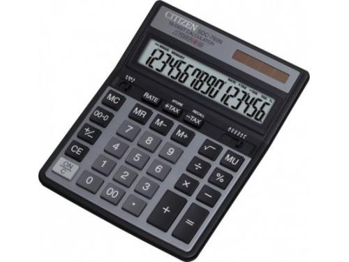 Калькулятор Citizen SDC-760N, 16-разрядный, черный, вид 1