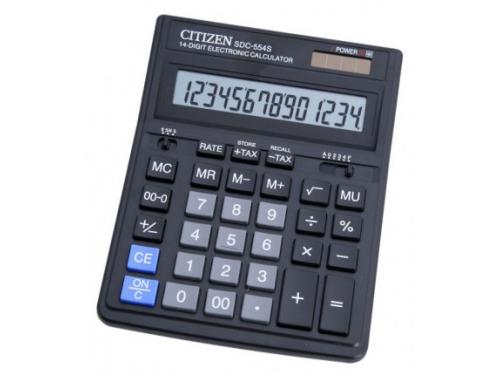 Калькулятор Citizen SDC-664S, 16-разрядный, черный, вид 1