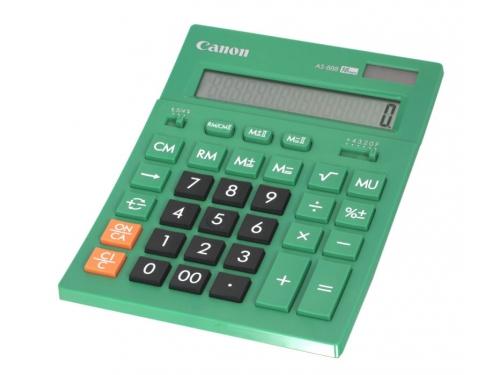 Калькулятор Canon AS-888-DGR, 16-разрядный, изумрудный, вид 1
