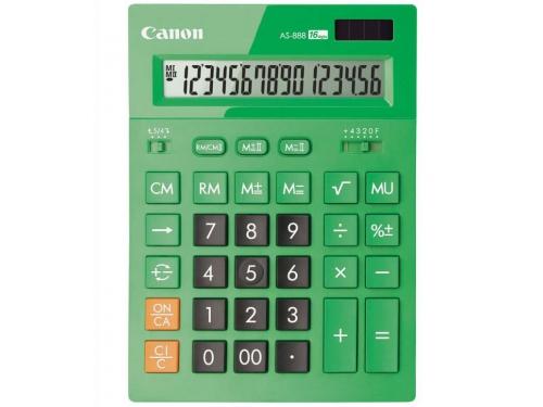 Калькулятор Canon AS-888-DGR, 16-разрядный, изумрудный, вид 2