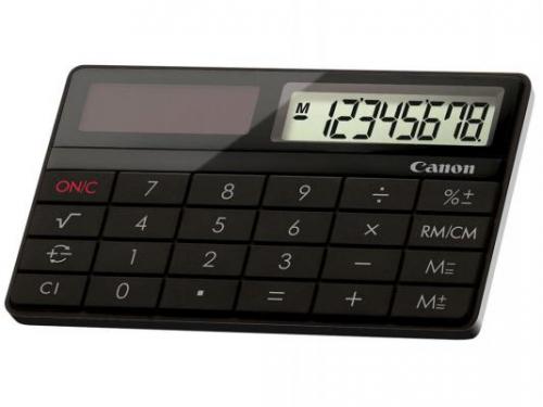 Калькулятор Canon X MARK I CARD 8-разрядный Чёрный, вид 1