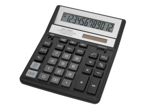 Калькулятор Citizen SDC-888XBK, 12-разрядный (чёрный), вид 1