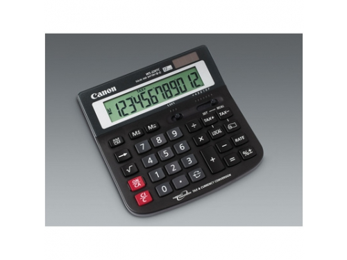 Калькулятор Canon WS-220 12-разрядный Чёрный, вид 1