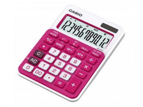 Калькулятор Casio MS-20NC-RD-S-EC 12-разрядный красный, вид 1
