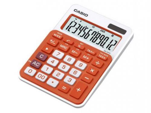 Калькулятор Casio MS-20NC-RG-S-EC 12-разрядный Оранжевый, вид 1