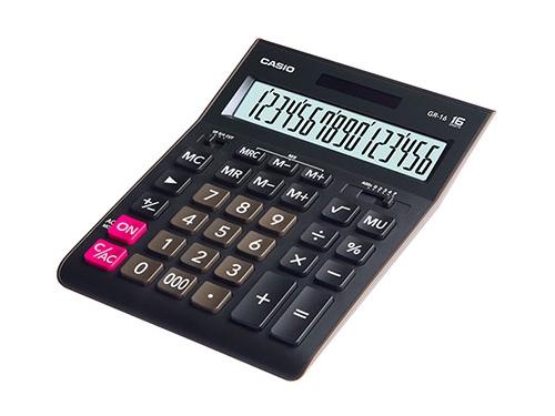 Калькулятор Casio GR-16 чёрный, вид 1