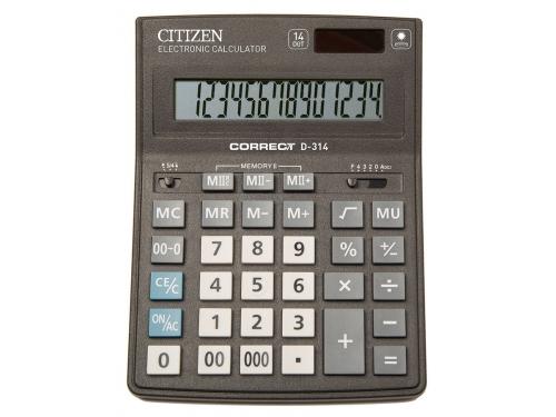 Калькулятор Citizen Correct D-314 14-разрядный Чёрный, вид 1