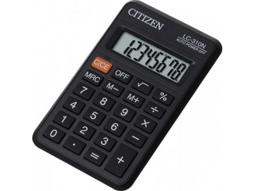 Калькулятор Citizen LC-310N, 8-разрядный (чёрный), вид 1