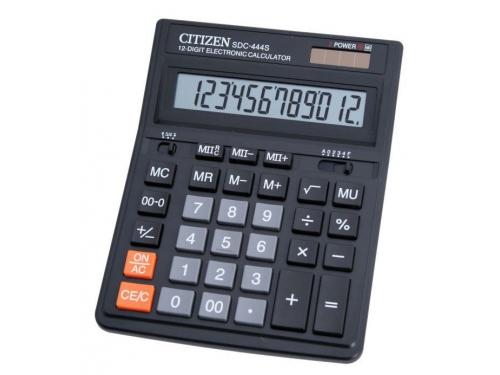 Калькулятор Citizen SDC-444S 12-разрядный Чёрный, вид 1