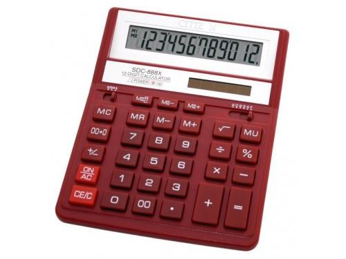 Калькулятор Citizen SDC-888XRD 12-разрядный Красный, вид 1