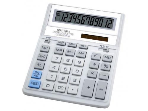 Калькулятор Citizen SDC-888XWH 12-разрядный Белый, вид 1