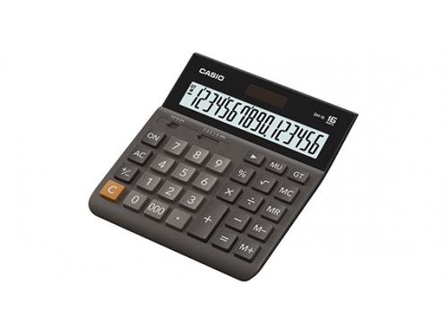 Калькулятор Casio DH-16 коричневый, вид 1