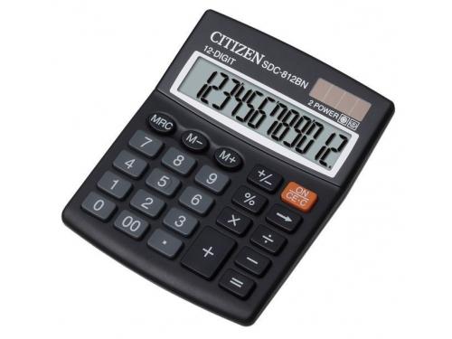 Калькулятор Citizen SDC-812BN 12-разрядный чёрный, вид 1
