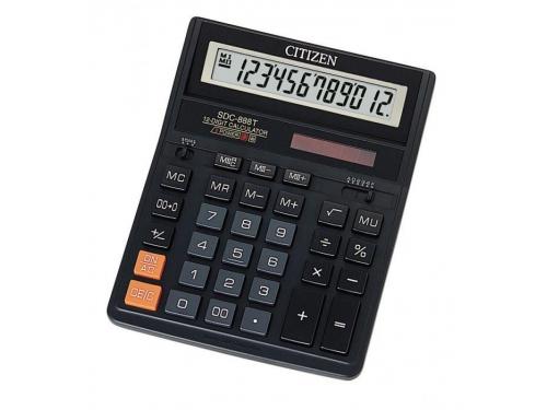 Калькулятор Citizen SDC 888TII 12-разрядный чёрный, вид 1