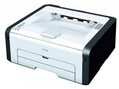 Лазерный ч/б принтер Ricoh SP 212w, белый, вид 1